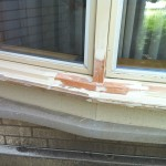 Before- Lower Window Frame Restoration