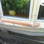 Before - Lower Window Frame Restoration